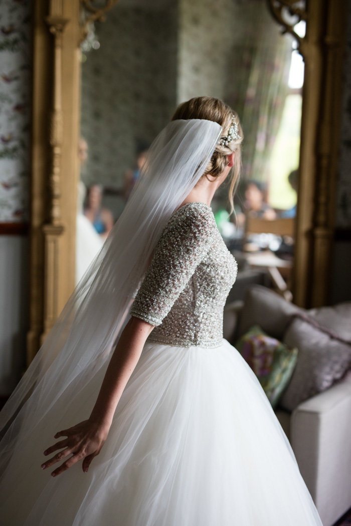 Bridal prep at Huntsham Court