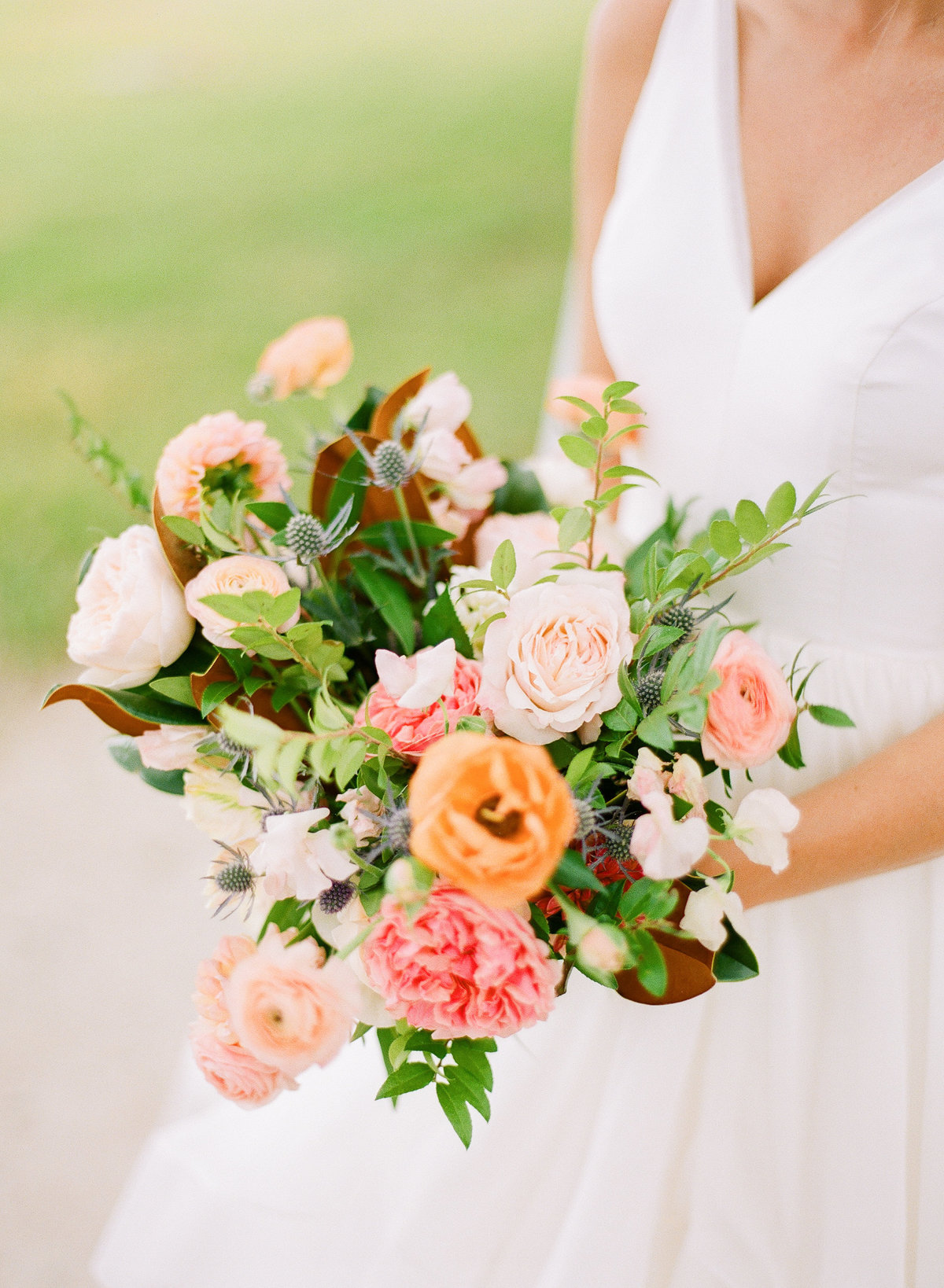 Colorful Bridal Bouquet from Branch Design Studio for October Charleston Wedding