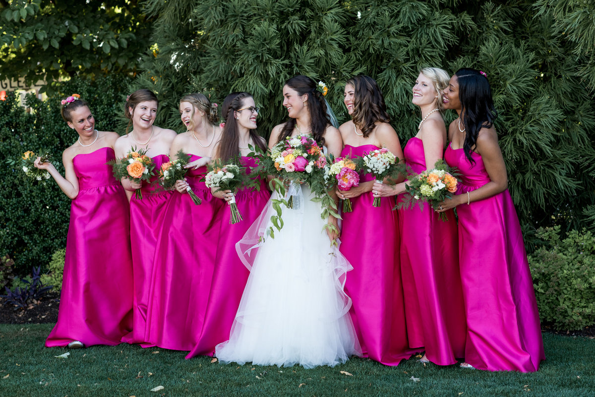 bridal party at the Washington Golf and Country club wedding