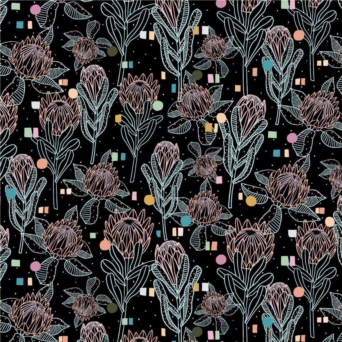 BG_Top 5 - Protea-Pop---black---PATTERN-TILE