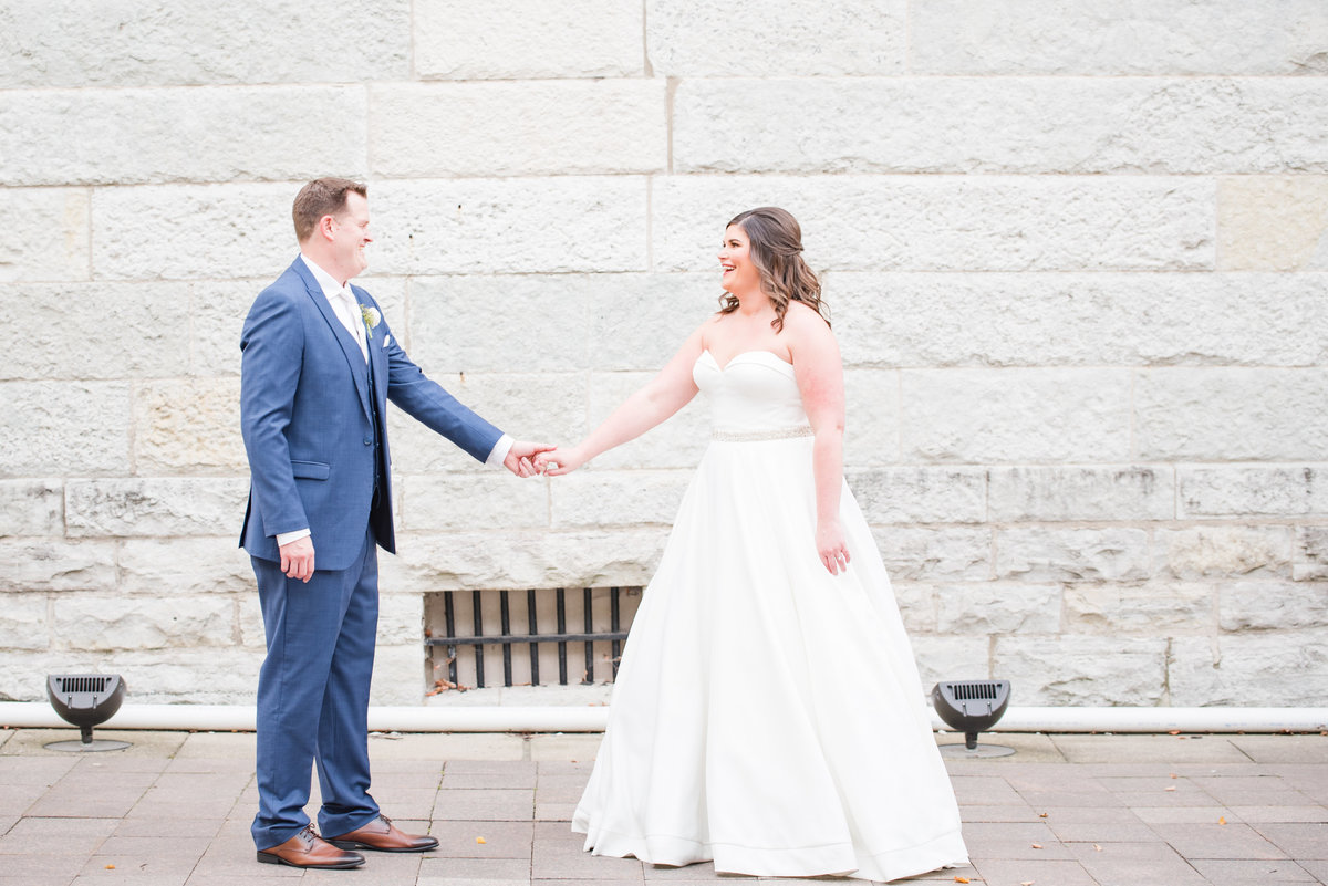 Newlywed Portraits Cait Potter Creative LLC Milltop Potters Bridge Noblesville Square Courthouse Wedding-21
