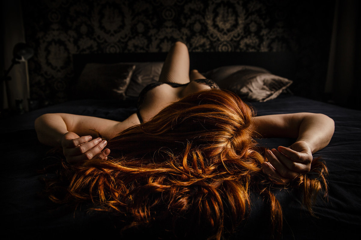 02-redhead boudoir photo by charleston photographer king and fields