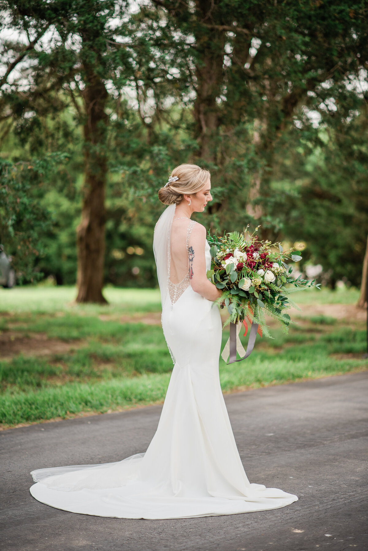 gorgeous bridal portrait at cedar lake cellars
