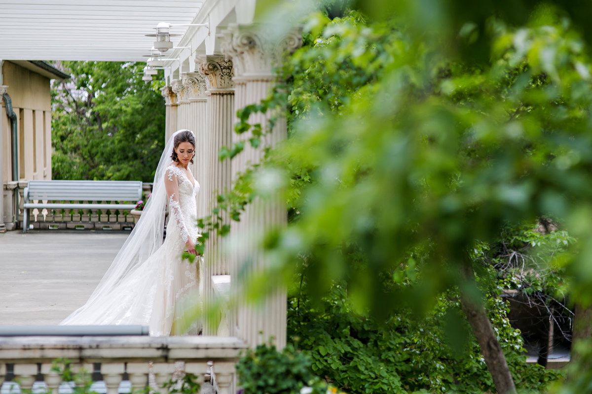 bride in pavilion at Grant Humphreys