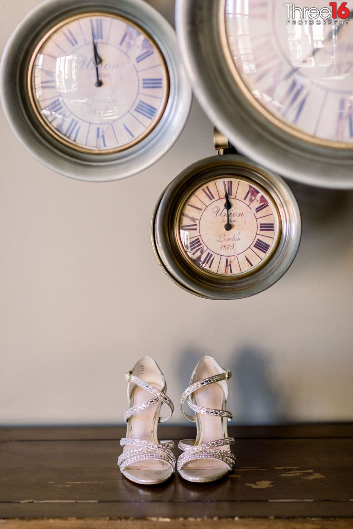 The time is right for the Bride's shoes