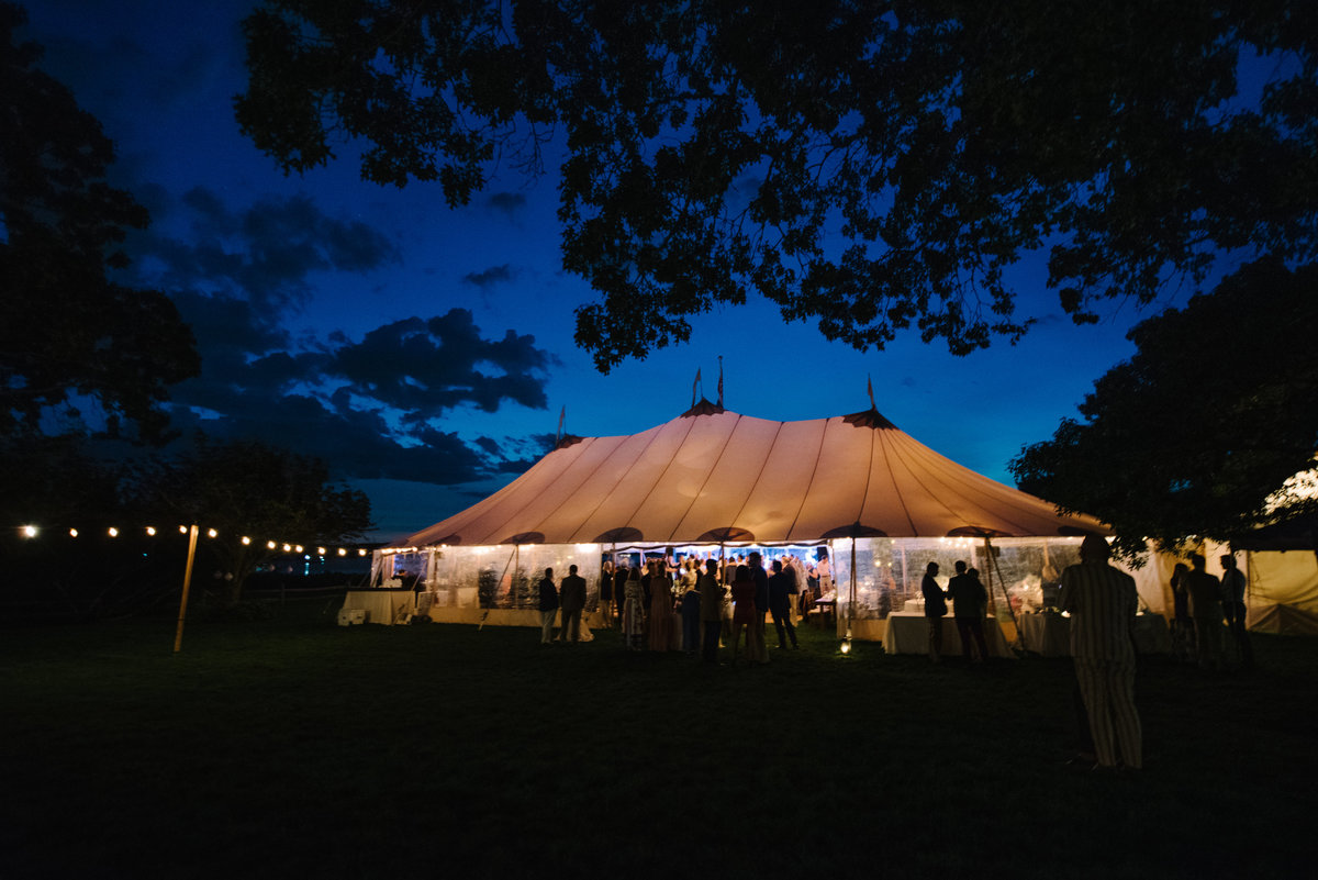 Sperry tent at night