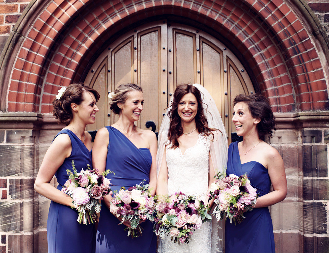 A Bride and her Bride Tribe at her Manchester Wedding