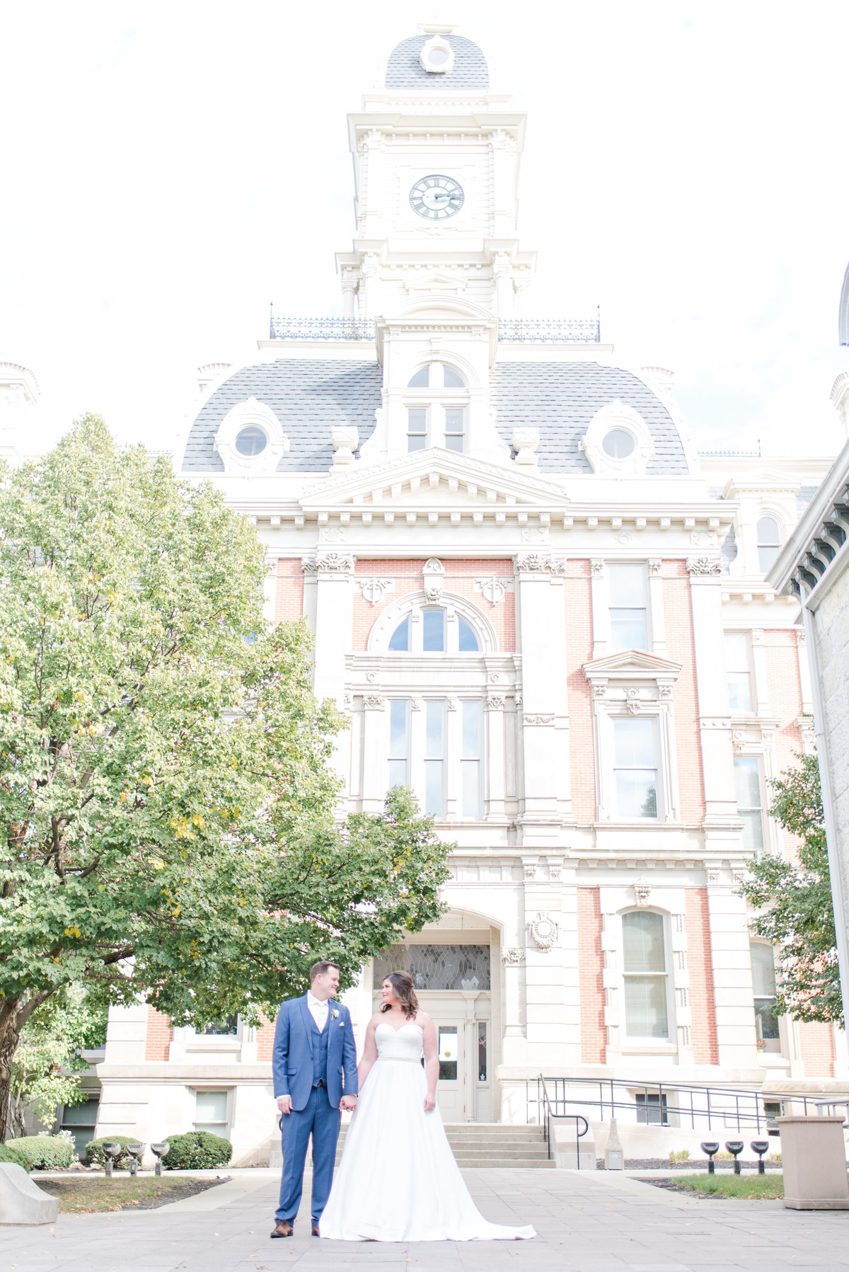 Newlywed Portraits Cait Potter Creative LLC Milltop Potters Bridge Noblesville Square Courthouse Wedding-31