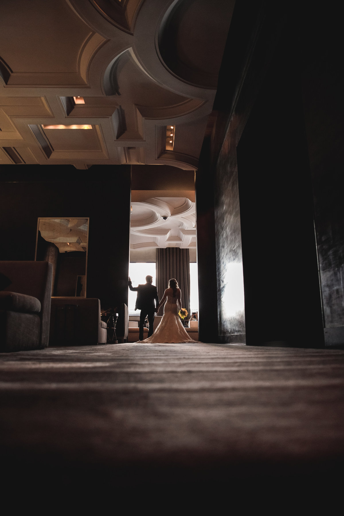 W Austin hotel wedding photographer bride groom lobby romantic 200 Lavaca St, Austin, TX 78701