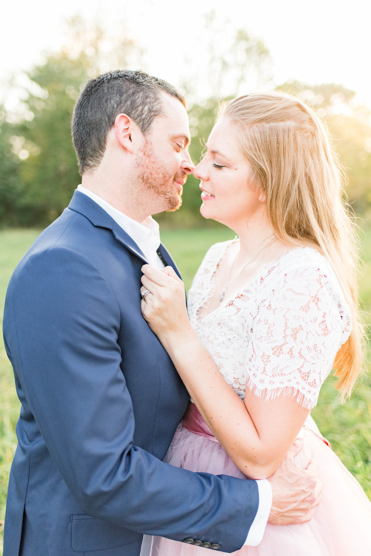 Cait Potter Creative LLC Open Field Rolling Greens Indianapolis Summer Engagement Photos-13