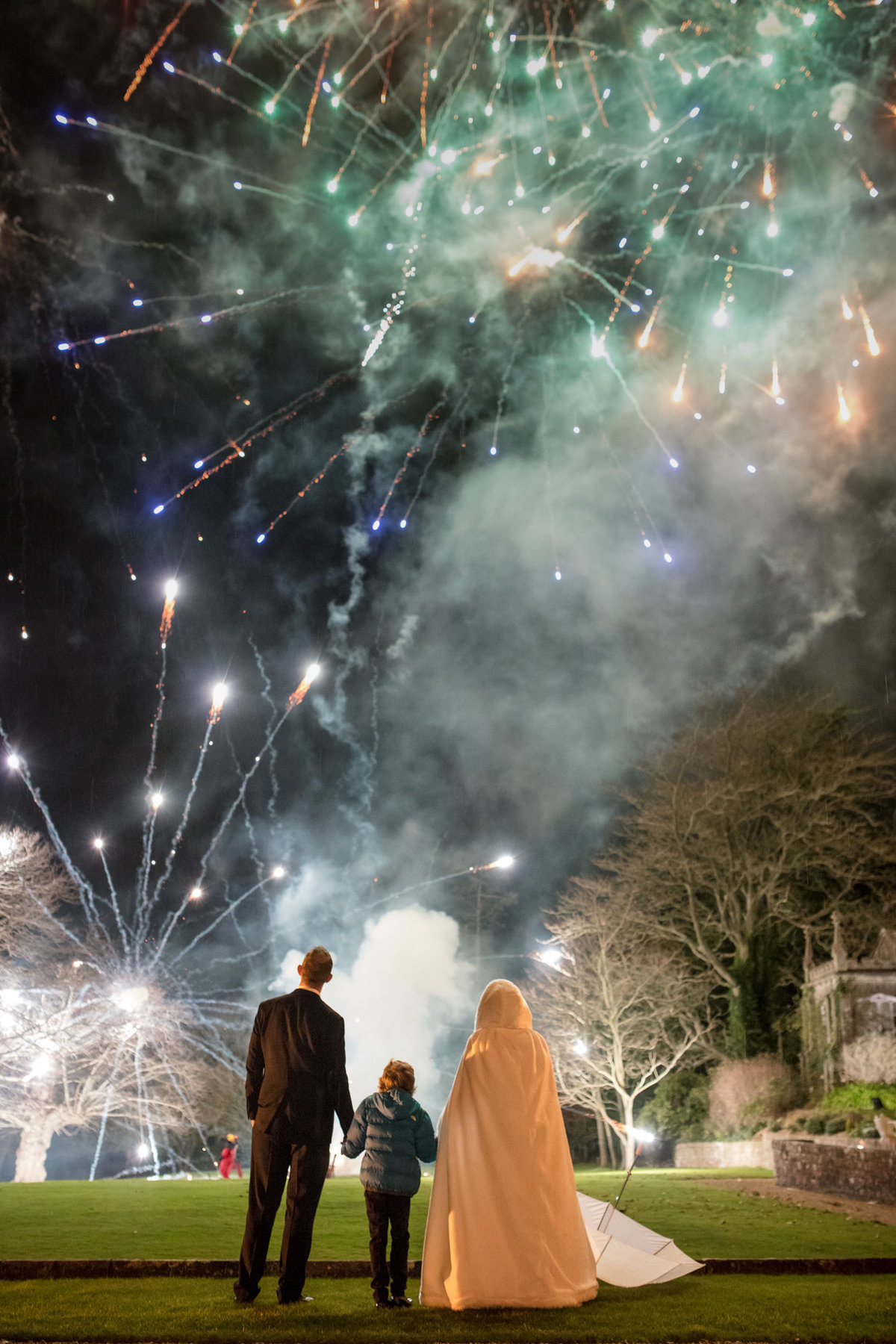 wedding fireworks at st audries park somerset