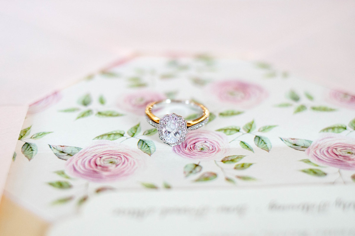 Bride engagement ring by Jacksonville Wedding Photographer