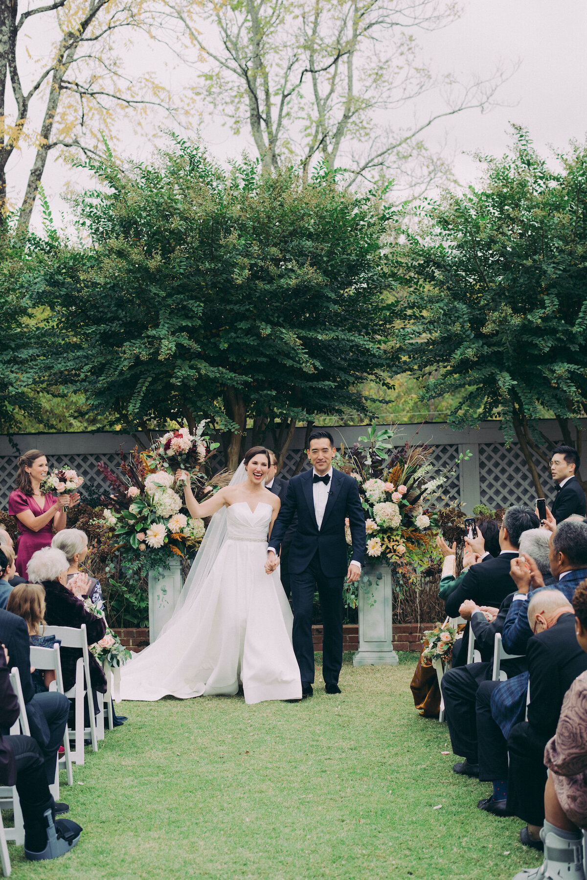 Walking Up the Aisle Wedding Photograph Robert Aveau for © Bonnie Sen Photography