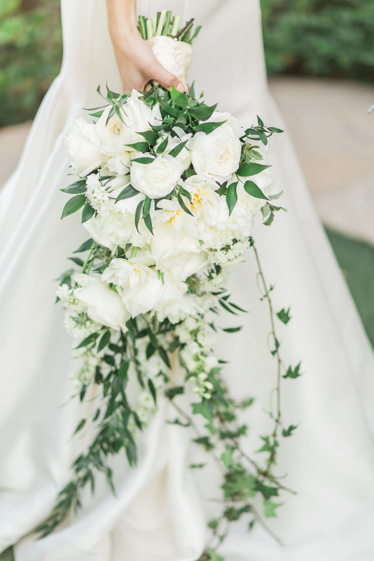 ivory cascading wedding bouquet