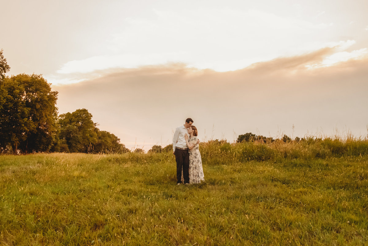 Elise + Avery_Missouri Engagement Session_Peculiar Missouri Farm Fields_Treolo Photography_86