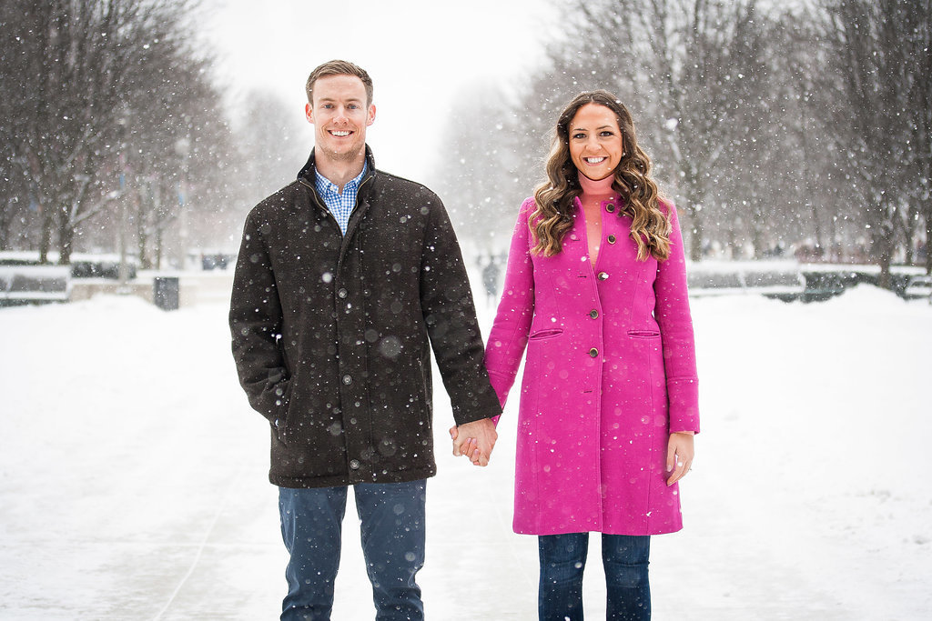 Millennium Park Chicago Illinois Winter Engagement Photographer Taylor Ingles 7
