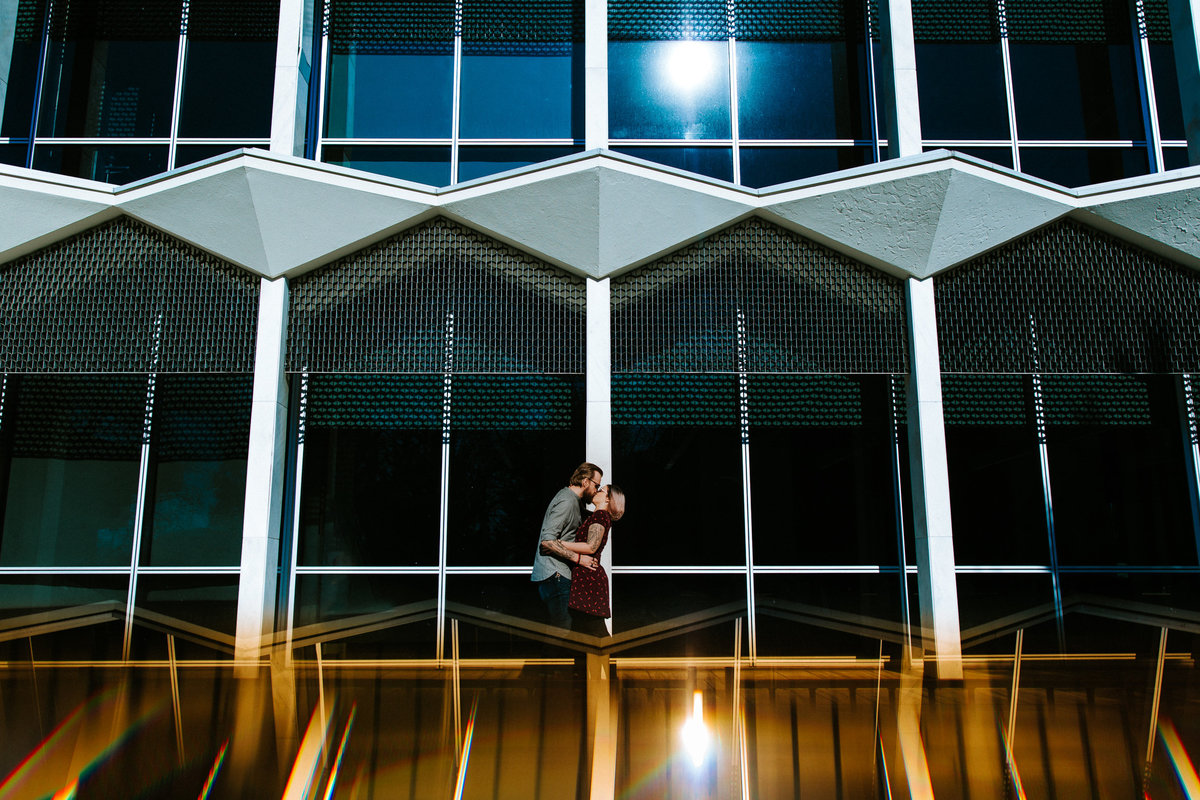 Mid Century Modern building engagement photography