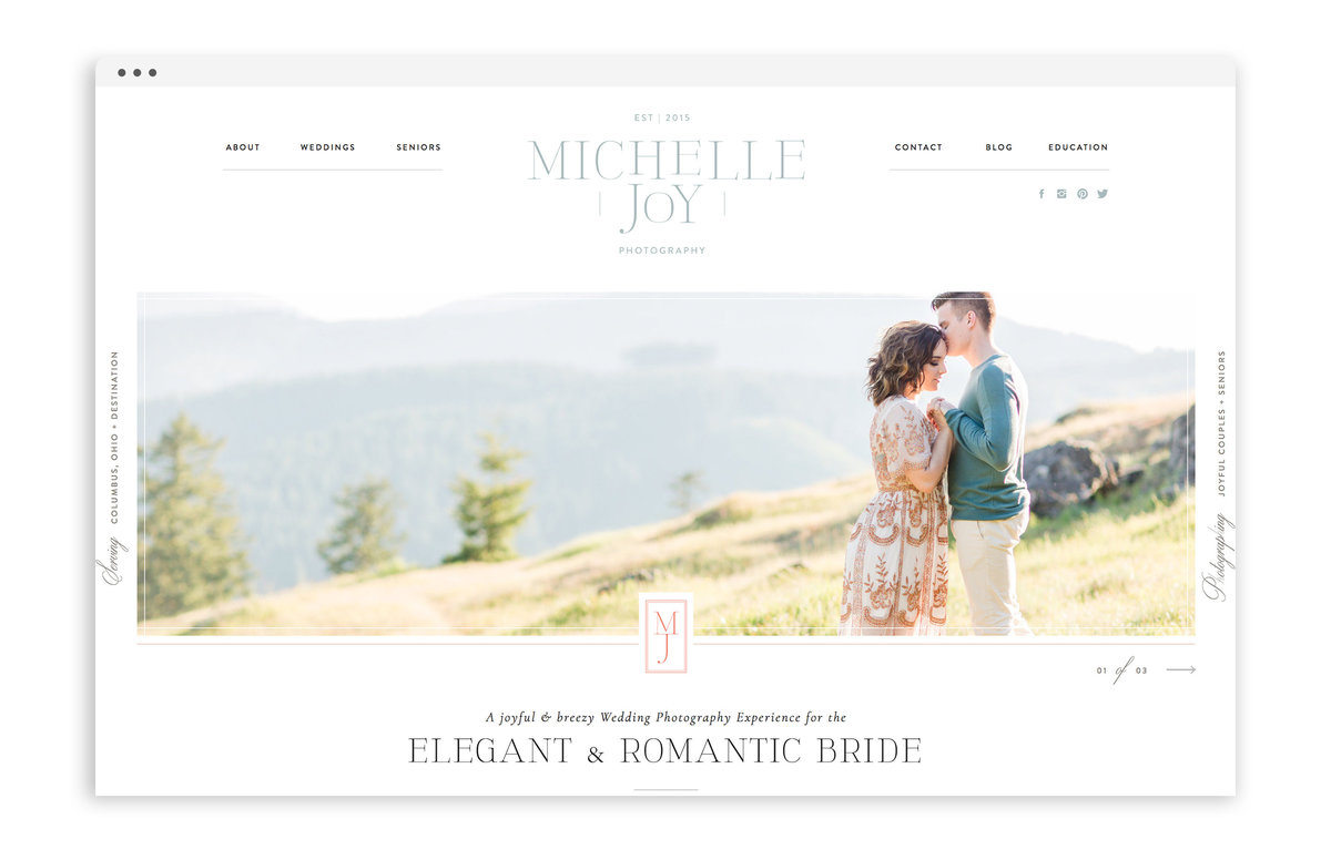 Michelle Joy Photography - Custom Logo Design, Stationery Design, Showit Web Design for Photographer - With Grace and Gold - 1