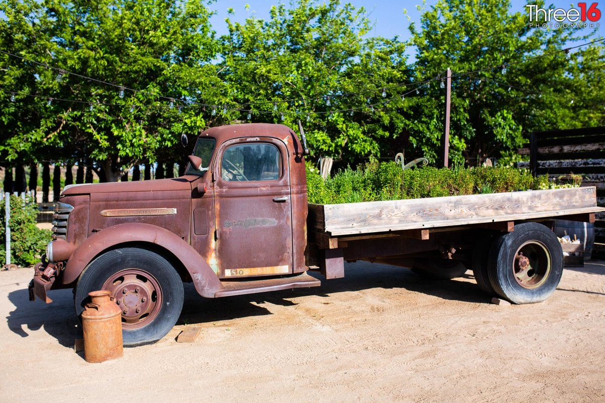 Old Flat Bed Truck at Peltzer Winery
