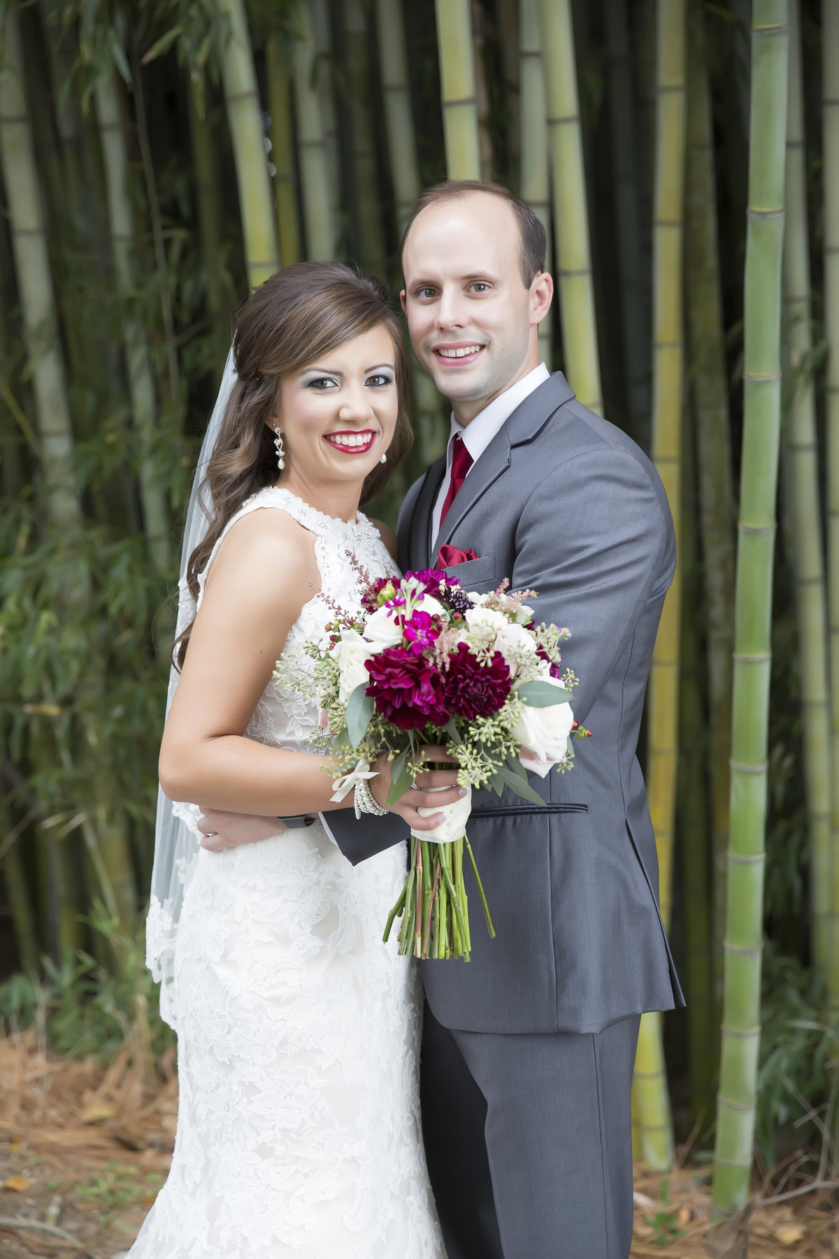 Bride and Groom at the Canebrake Country Club in Hattiesburg, Mississippi