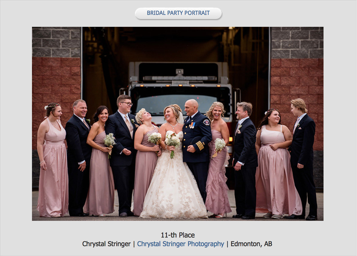 Bridal party at a firehall