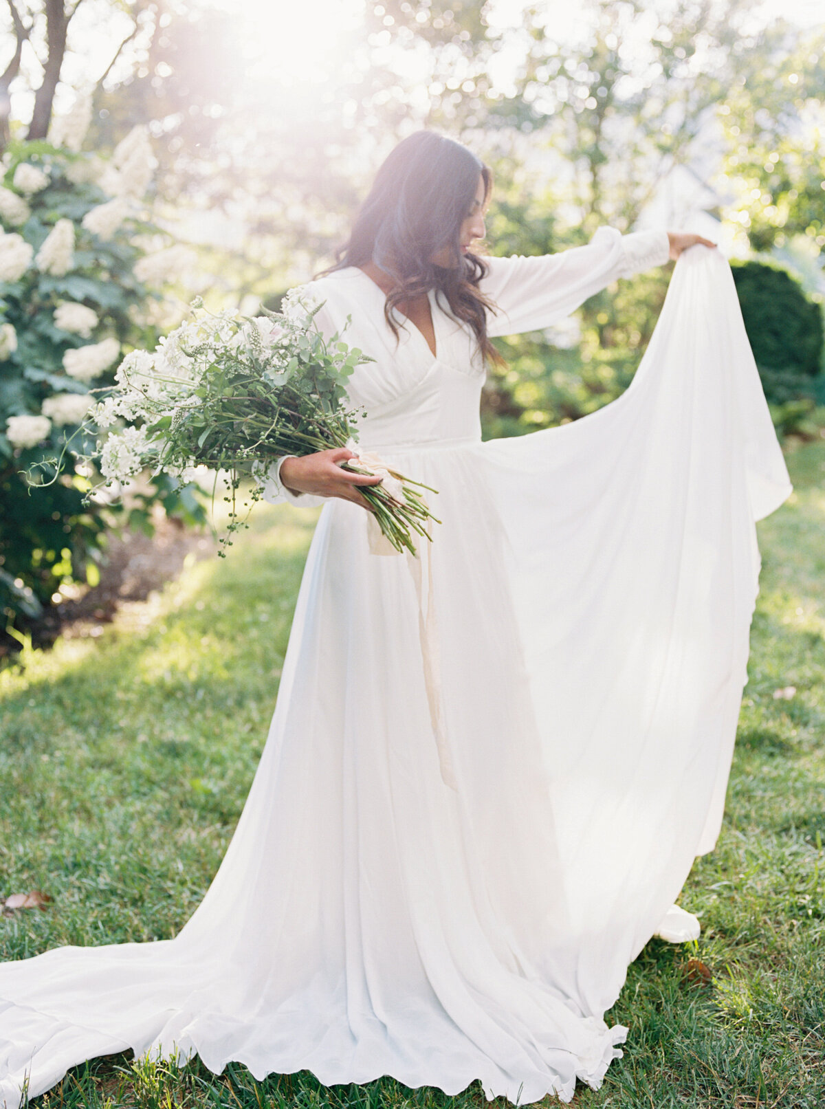 Michela Watson Photography Michela Brooke Photography Modern Garden Wedding Old World Dress Flower Farm Romantic Blue Ridge Mountains Natural Organic Timeless-57