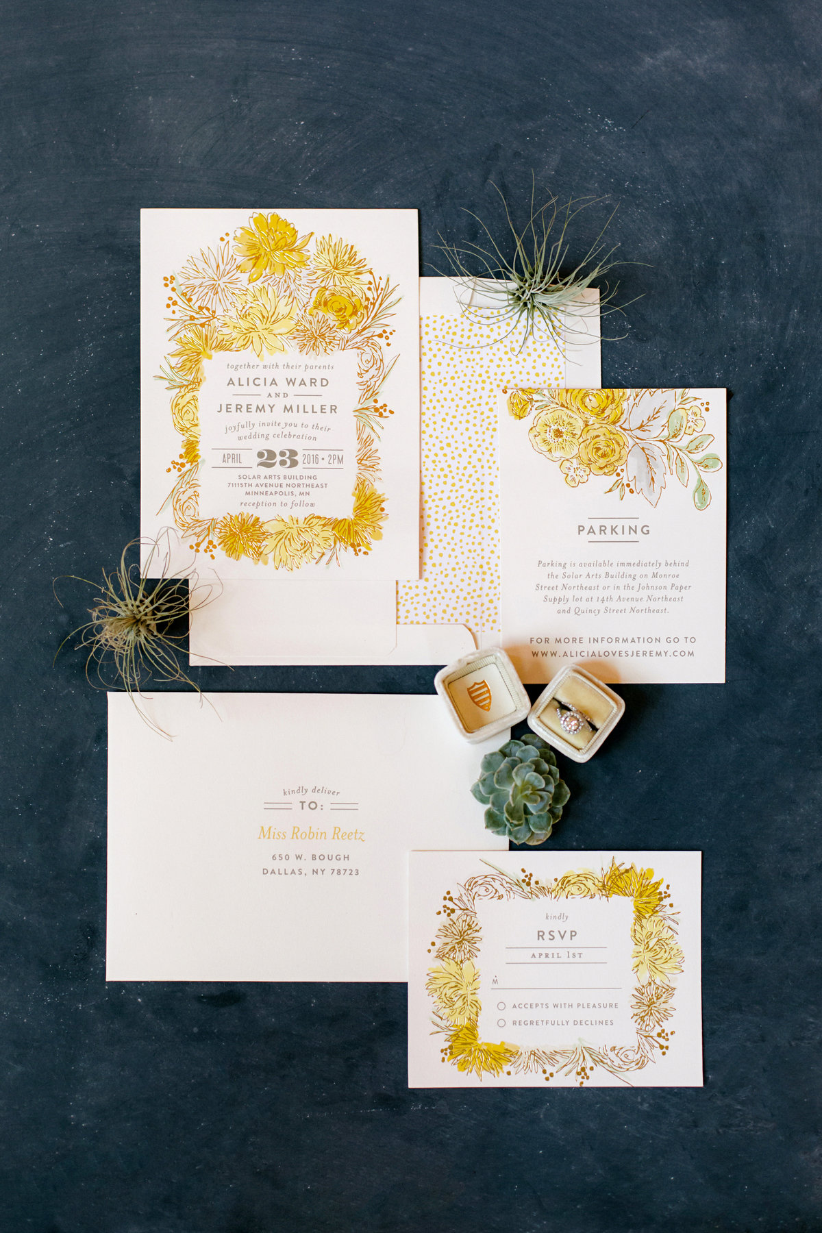 botanical floral invitations paper