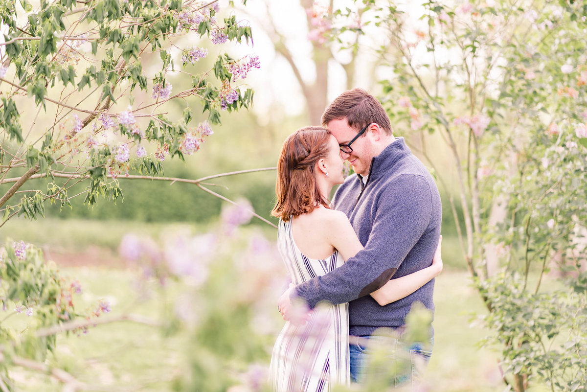 Cait Potter Creative LLC Holcomb Gardens Spring Engagement Photos-8
