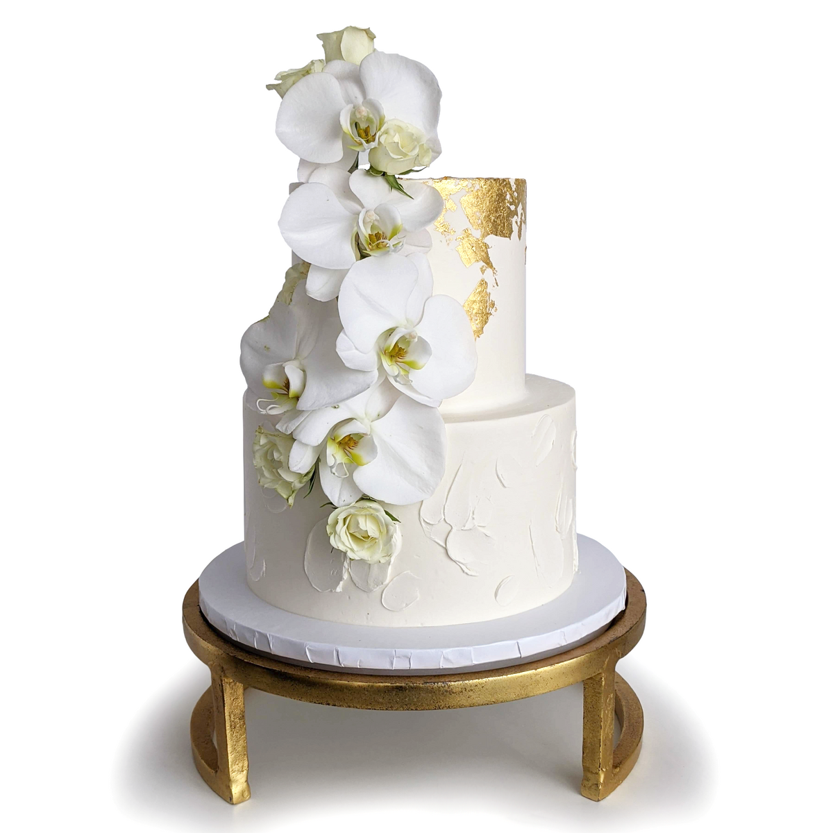 Whippt Kitchen - wedding cake Orchids Oct 2020 2