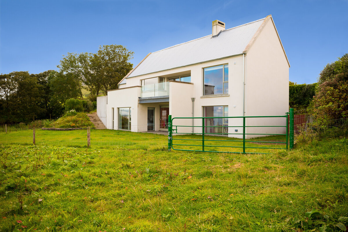 Architect designed house with galvanised roof in Kerry