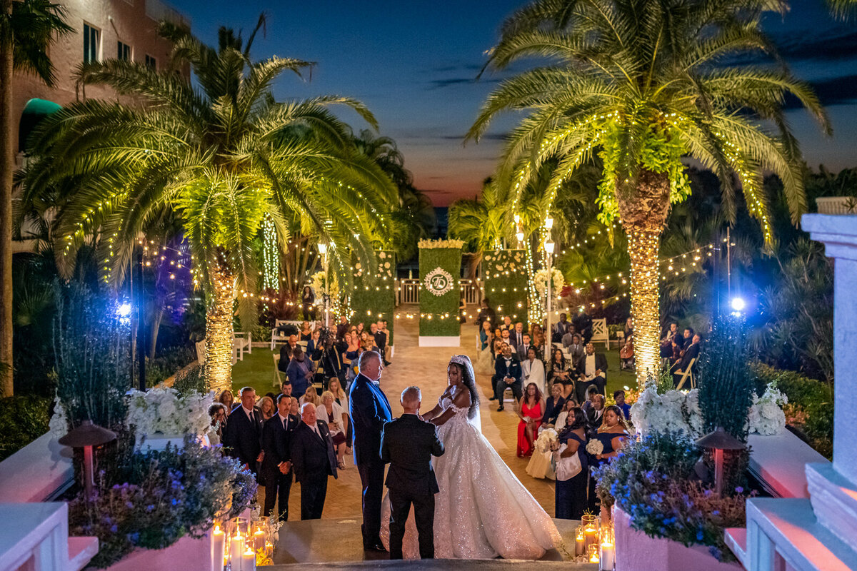 The-Don-Cesar-Night-Time-Wedding-Ceremony