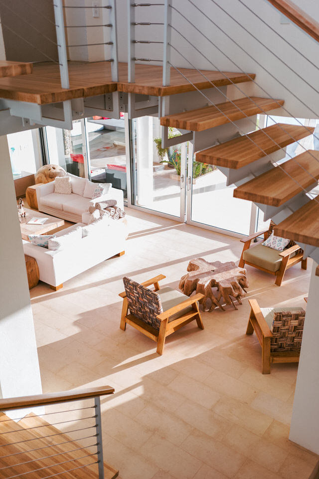 birds eye view of living room at ani private resort in anguilla