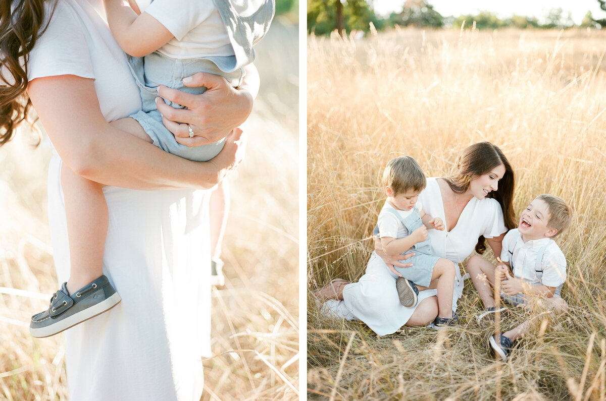 Fort Steilacoom Park Family Session - Film Family Photography - Seattle - Fine Art - Light and Airy - Family photos - 2