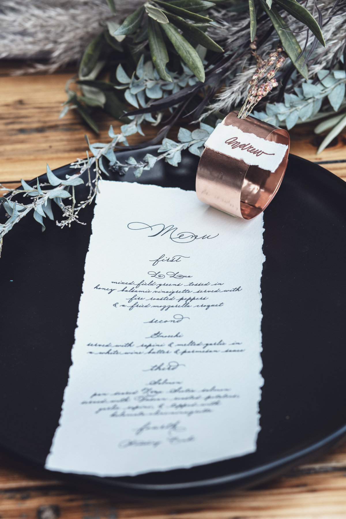 Modern Boho Wedding Menu - Fall Wedding Inspiration - Rochester, NY - Verve Event Co (13)