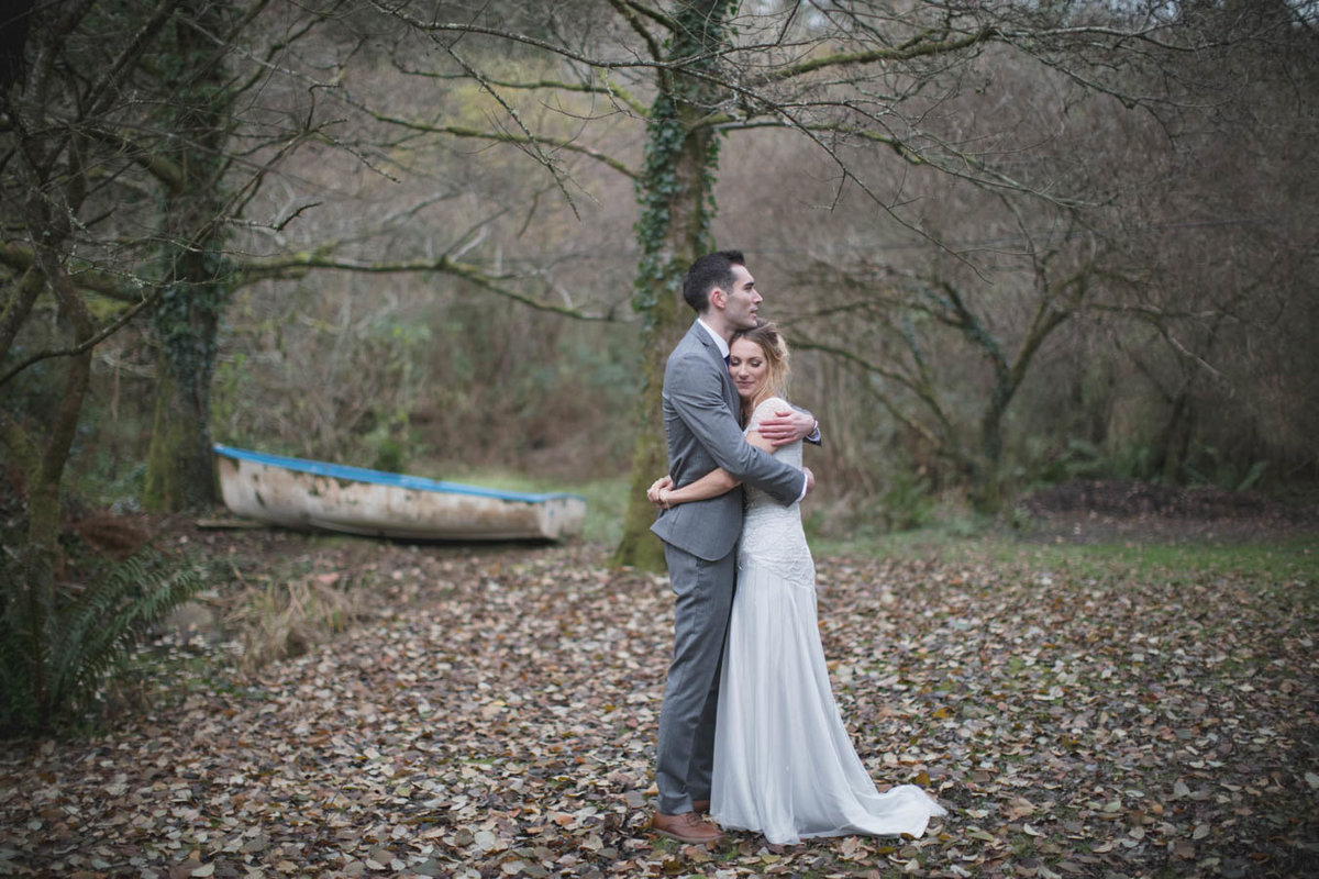Winter Wedding Photo at The Green in Cornwall