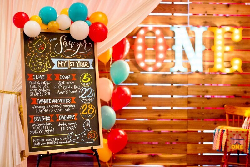 Circus Themed 1st Birthday Indianapolis Party Planner_0024