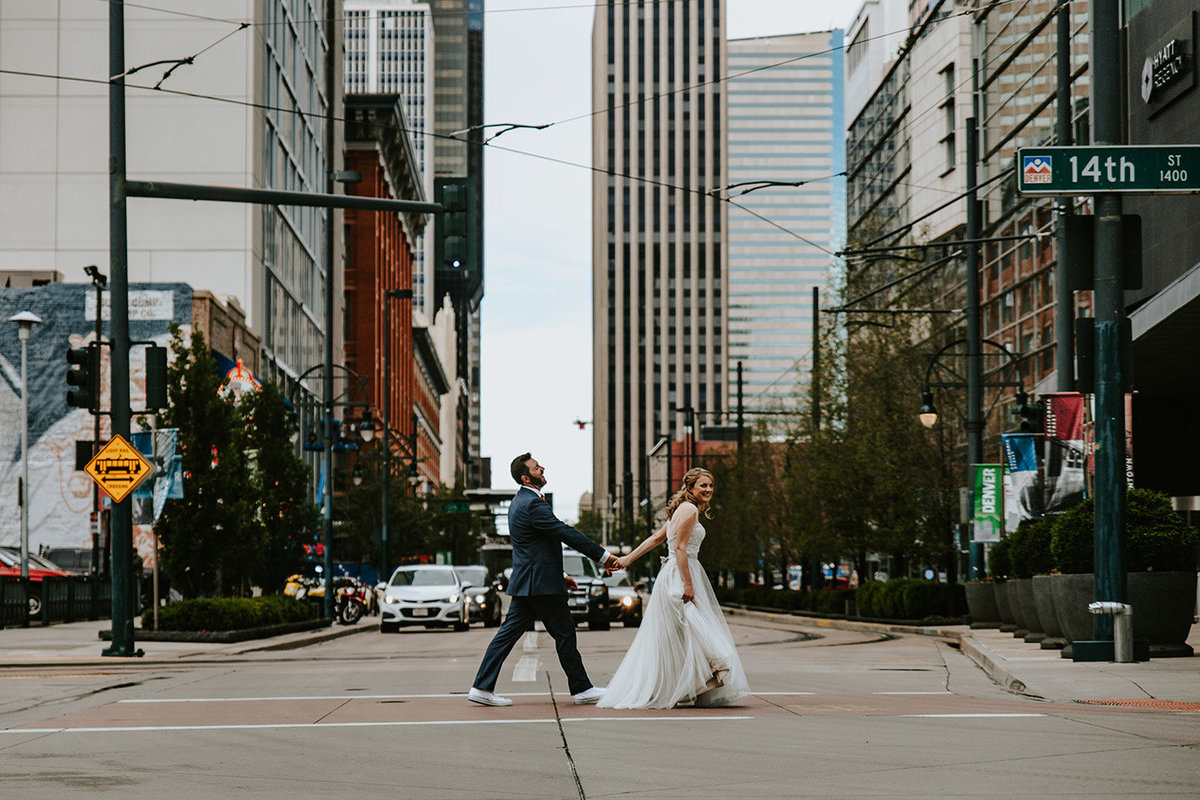 urban city wedding in Denver CO