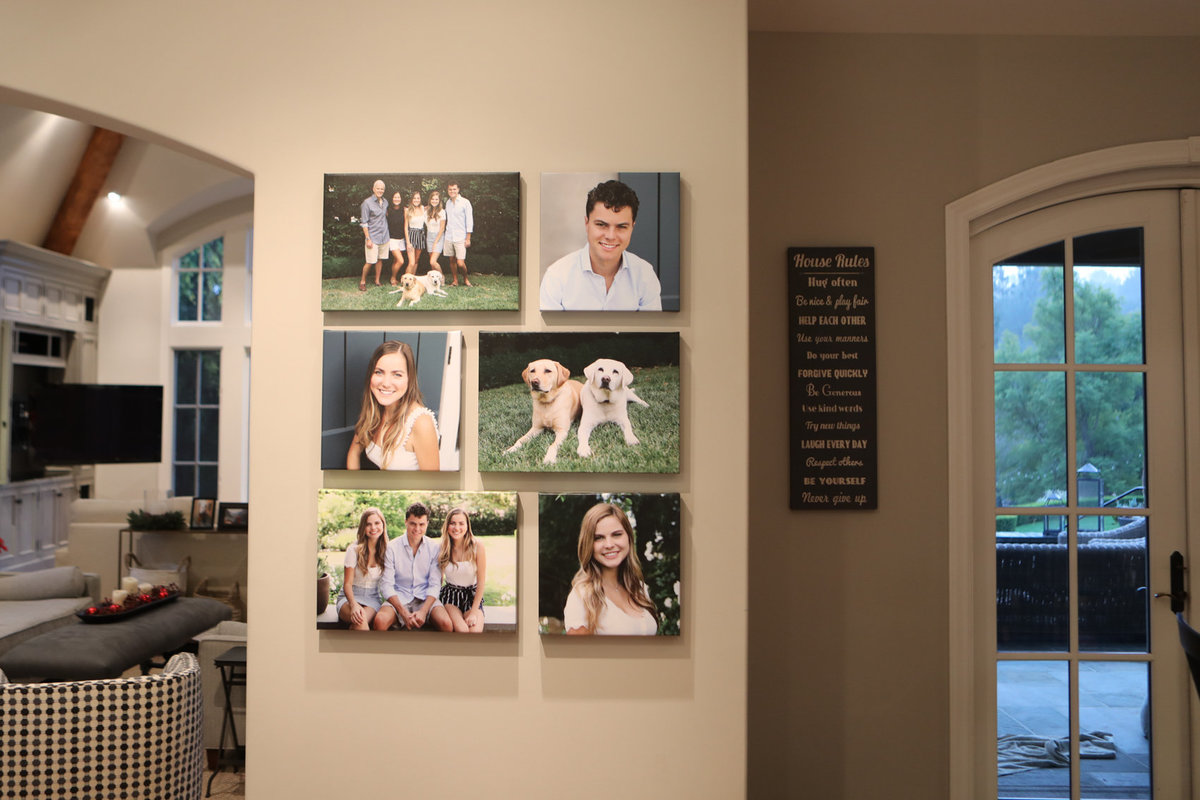 family portraits, finished product wall art