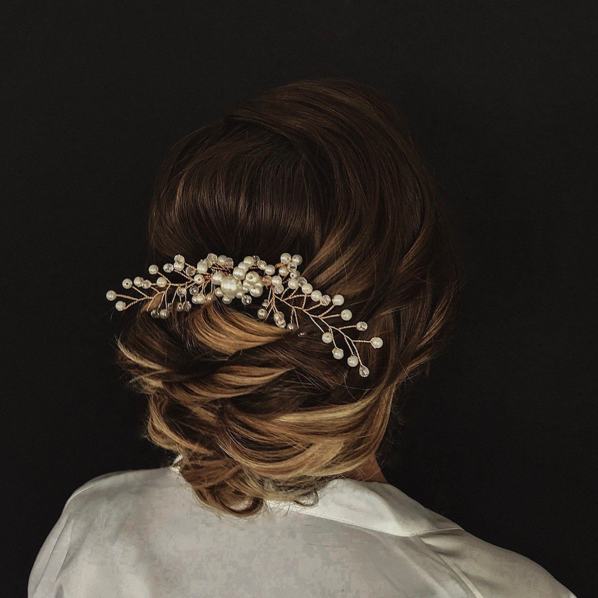 Balyage Updo with Hair Piece
