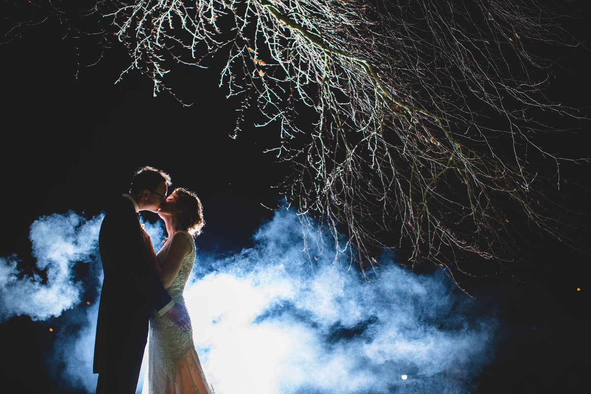 smoke epic wedding photo