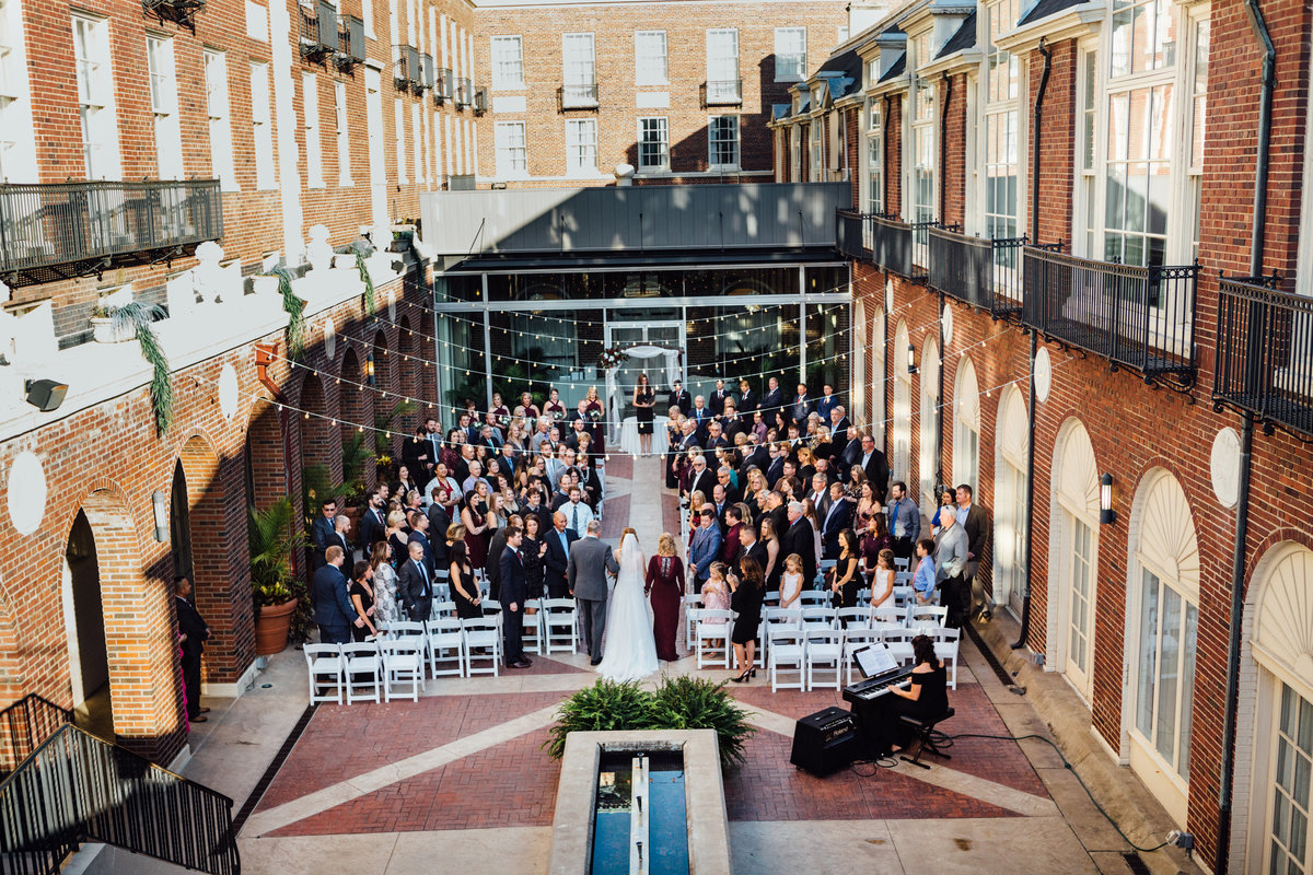 Courtyard Ceremony at Magnolia