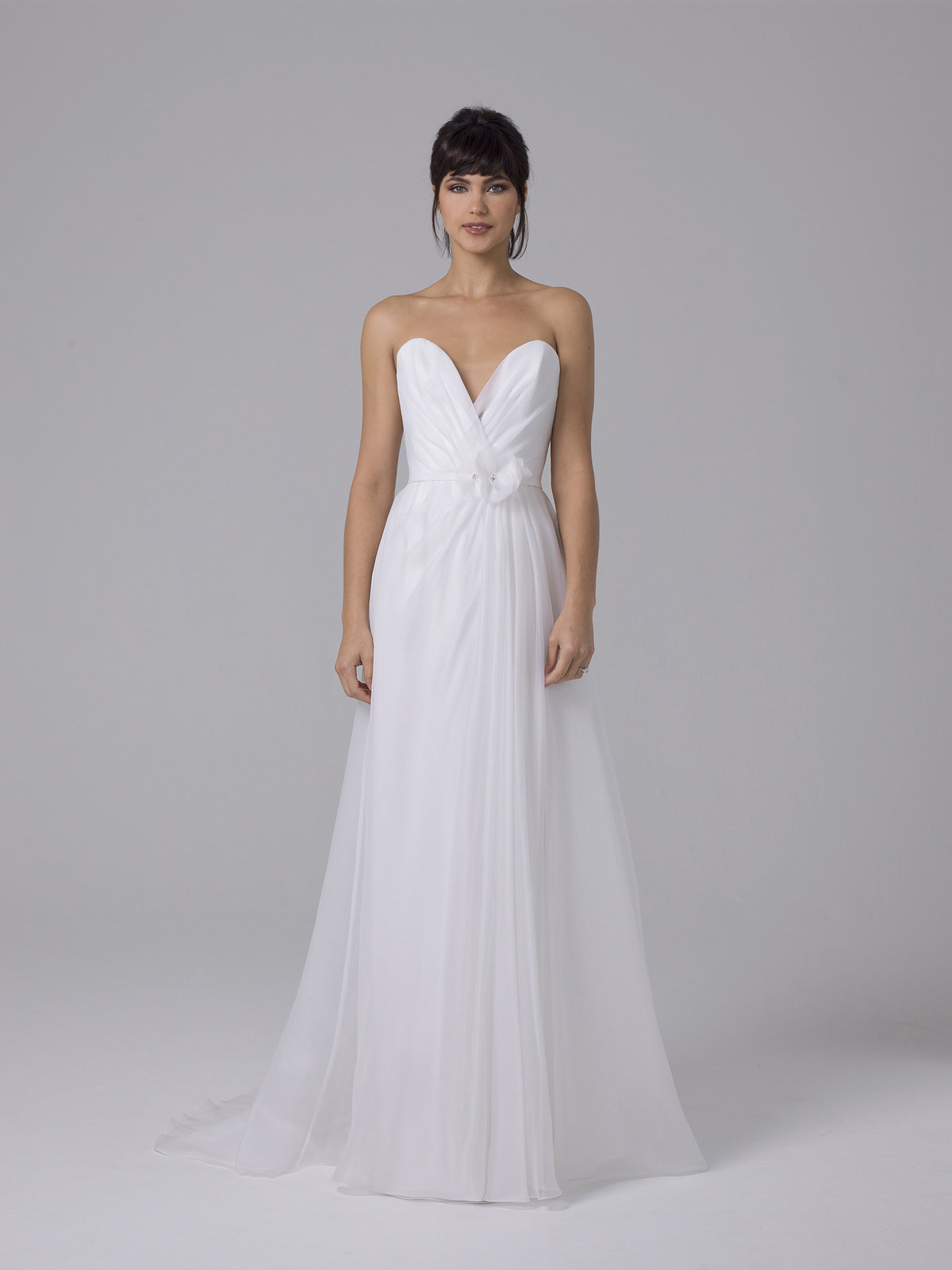 Liancarlo Strapless Sweetheart A-Line Tulle Wedding Dress