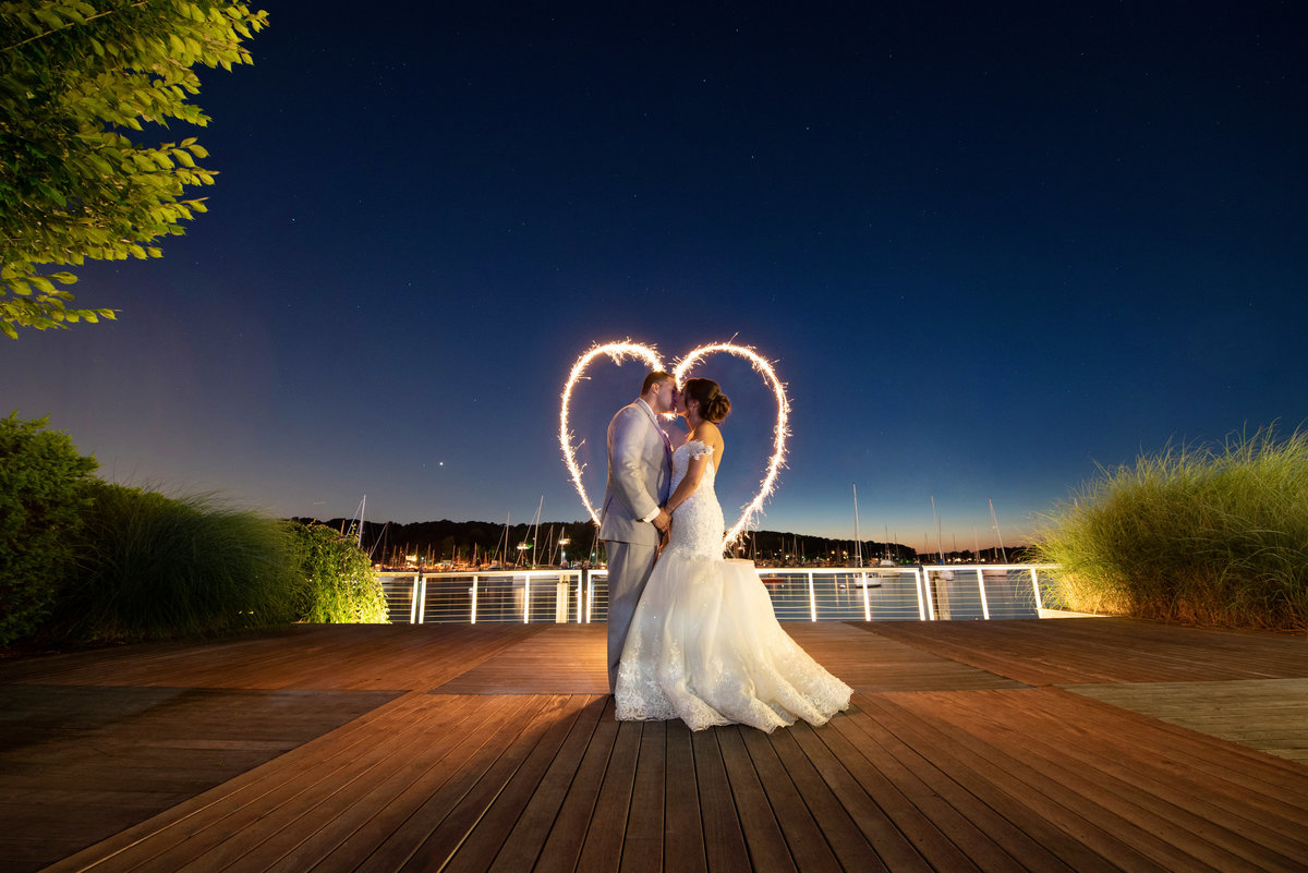 Sparkler photo at Harbor Club at Prime
