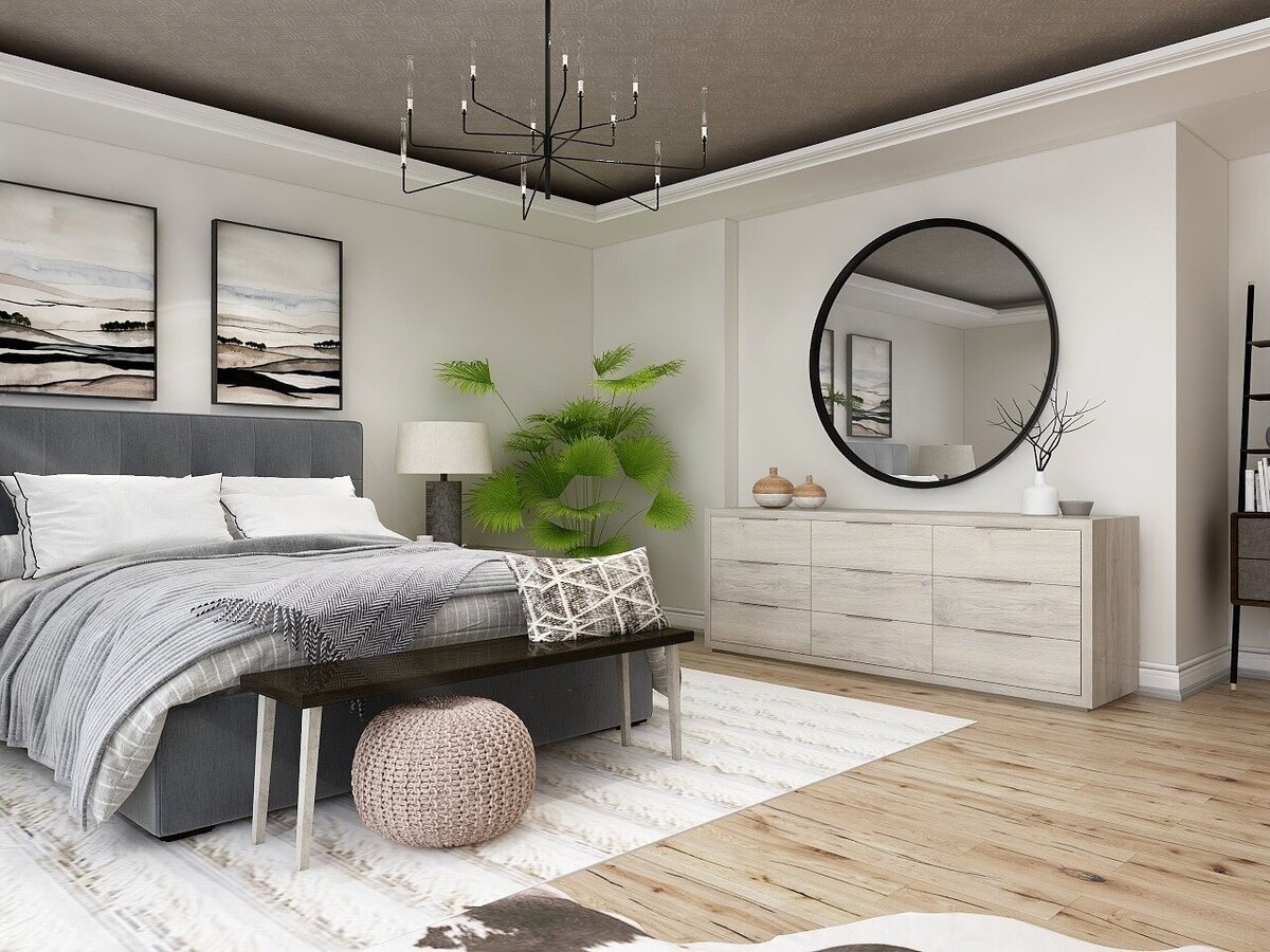 Bedroom 3D Rendering