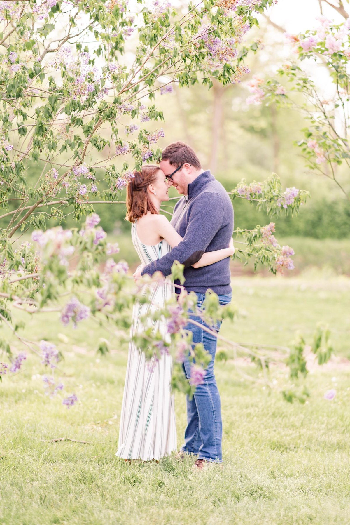 Cait Potter Creative LLC Holcomb Gardens Spring Engagement Photos-6