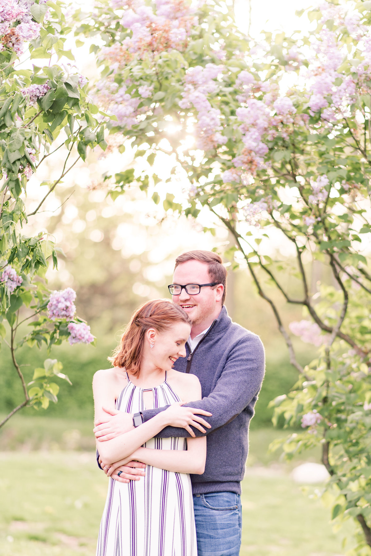 Cait Potter Creative LLC Holcomb Gardens Spring Engagement Photos-1