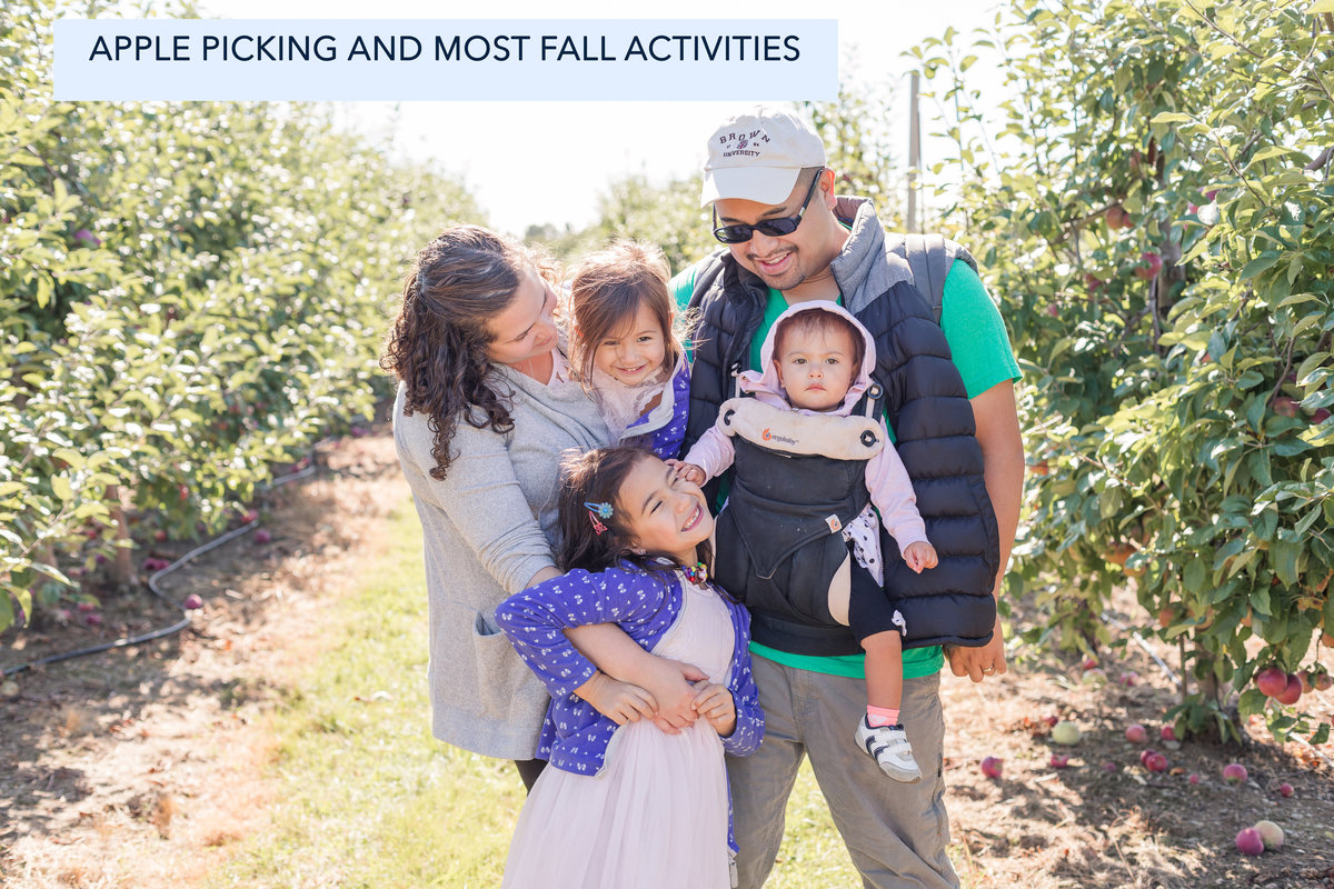 Family apple picking Dowse Orchard Sherborn MA