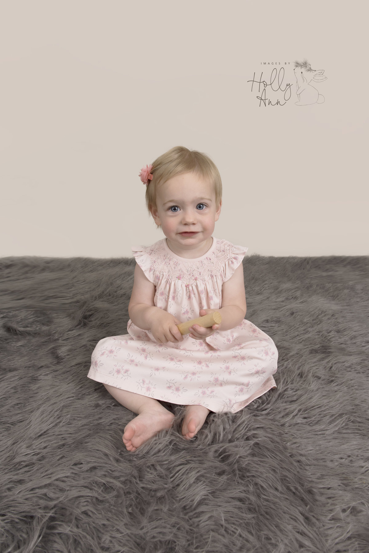 baby studio portrait session