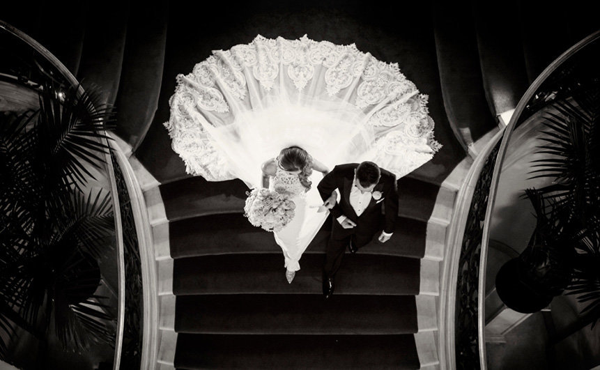 Wedding Rosecliff Mansion Staircase 0024
