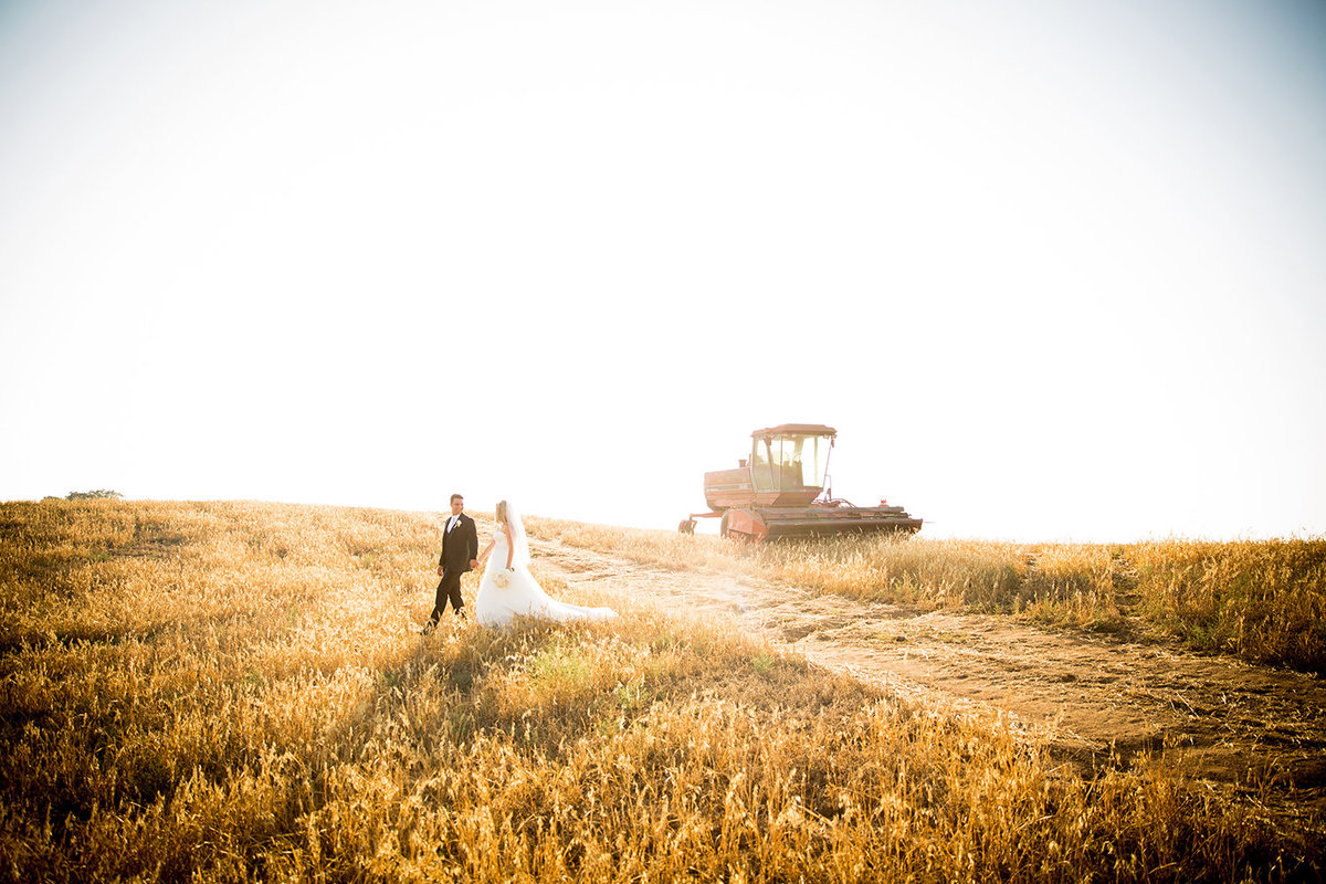 Steele Canyon wedding photos rustic field with tractor